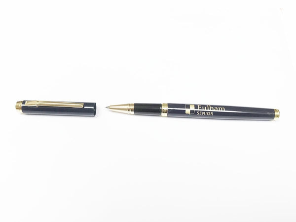 50 x School Engraved Black or Dark Blue Pen & Personalised Maple Pen Case|Natural or Colour Top (from £9 per pen&case + VAT)