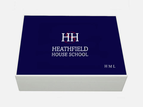 Heathfield House School Memory Wood Box - A4 box - Personalised