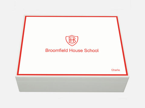 Broomfield House School Memory Wood Box - A4 Box - Personalised