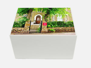Broomfield House School Memory Wood Box - A4 Chest - Photo of School- Personalised