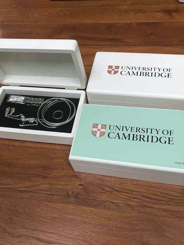 For Her - Personalised  University of Cambridge White Jewellery Box