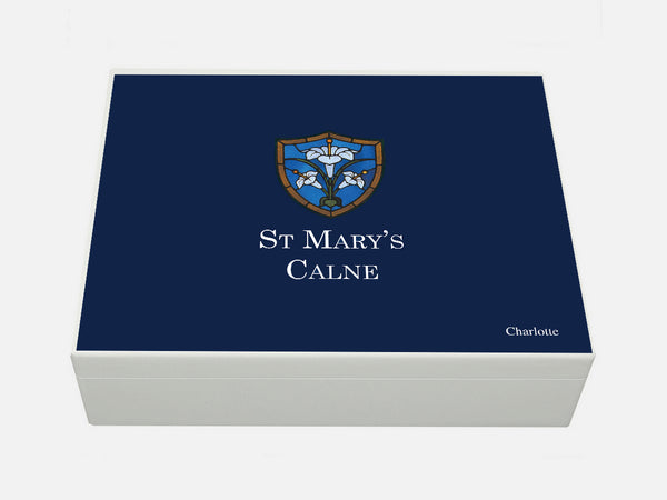 St Mary's Calne School Memory Wood Box - A4 box - Personalised