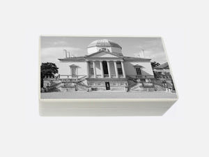 White Chiswick House Wooden Jewellery Box 198 x 116 x 63 mm