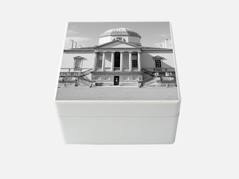 Chiswick House - Medium square wood box