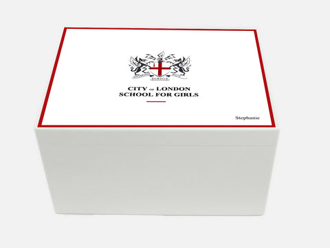 City of London School for Girls School Memory Wood Box - A4 Chest - Personalised