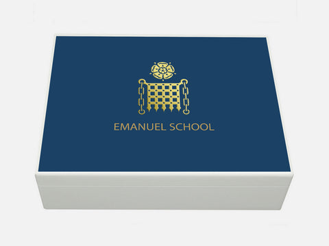 Emanuel School Memory Wood Box - A4 Box - Personalised