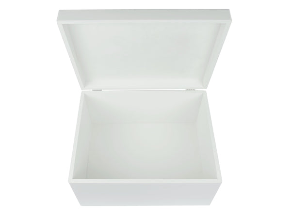 Keepsake box luxury extra large white open