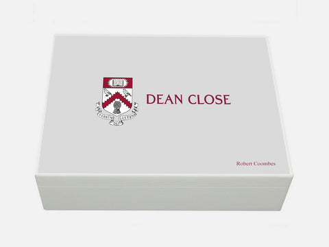 Dean Close School Memory Wood Box - A4 Box - Personalised