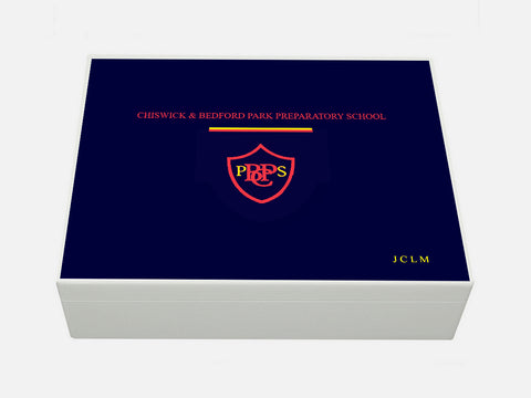 Chiswick and Bedford Park School Memory Wood Box - A4 Box - Personalised
