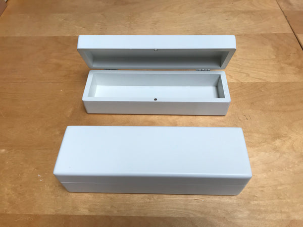 Luxury White Wooden Watch Gift Box