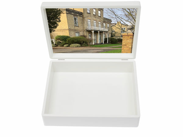 Lady Eleanor Holles (LEH) School Memory Wood Box - Personalise with a name - A4 box - White 335 x 260 x 100 mm