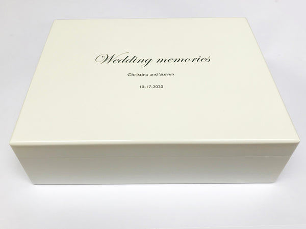Wedding memories box with photo inside| Wedding keepsake wooden box