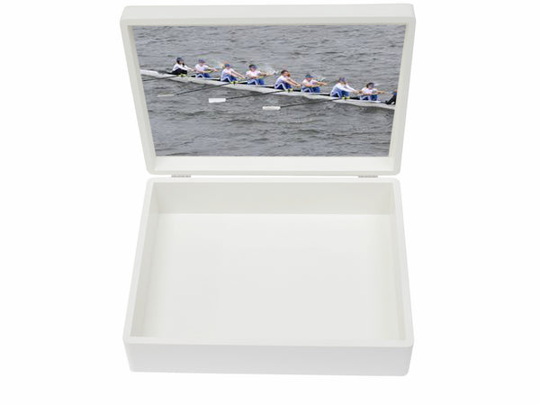 Latymer Upper  School Memory Wood Box - A4 Box - White - Personalised