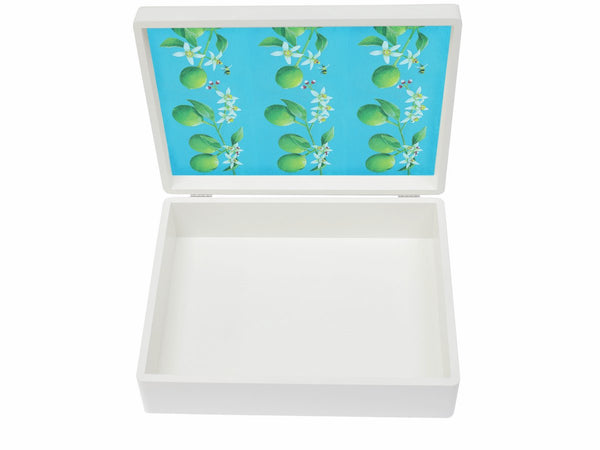 Limes wooden box file for A4-sized papers, magazines, recipes, post 335 x 260 x 100 mm