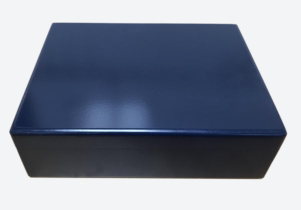 Luxury blue wooden file box