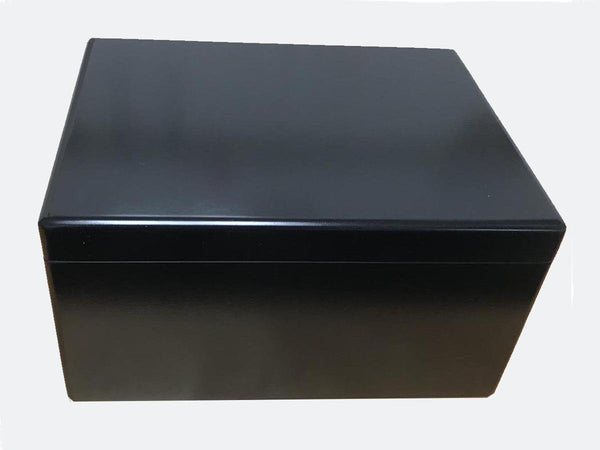 Luxury black wooden box file extra large