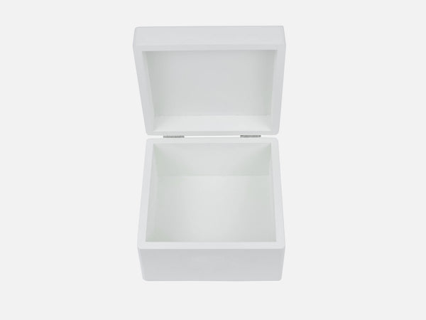 Luxury White Wooden Medium Gift Box 160 x 160 x 100 mm