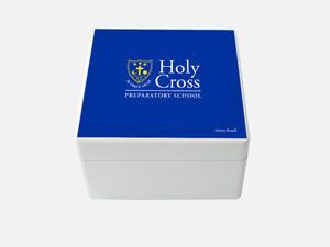 Holy Cross Prep School Memory Wood Box - Medium - Personalised