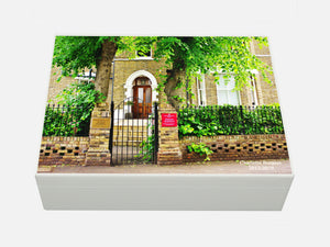 Broomfield House School Memory Wood Boxes - A4 Box - Photo of School - Personalised