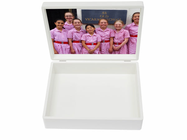 Old Vicarage School Memory Wood Box - A4 Box -  Personalised