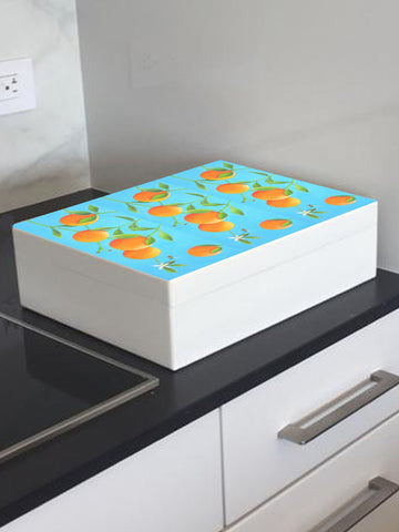Oranges wooden box file for A4-sized papers, magazines, recipes, post 335 x 260 x 100 mm