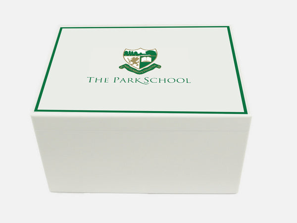 Park School Memory Wood Box - A4 Chest - Personalised