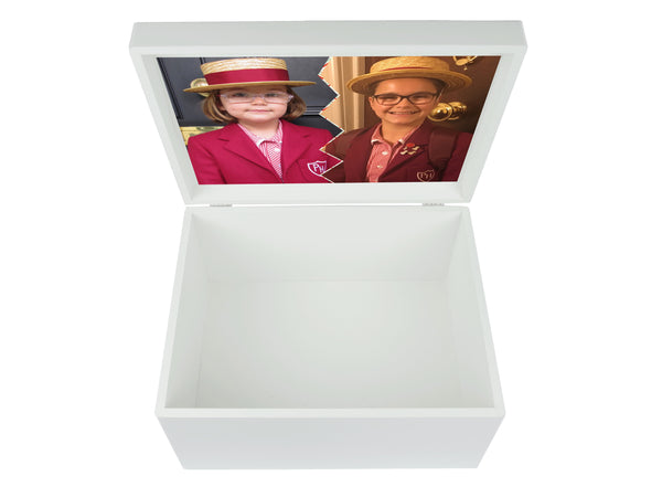 Pembridge  Hall School Memory Wood Box - A4 Chest - Personalised