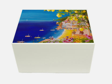 YOUR ARTWORK  on a Premium White A4 Chest Wooden Gift Box  335 x 260 x 180 mm