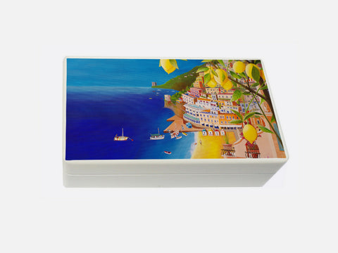 White Positano  Wooden Jewellery box 198 x 116 x 63 mm