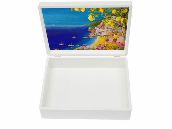YOUR ARTWORK on a Premium White A4 Box fits a4-sized papers  335 x 260 x 100 mm