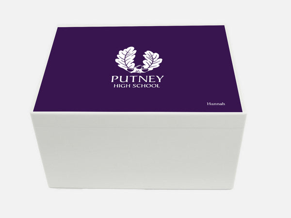 Putney High School Memory Wood Box - A4 Chest- Personalised