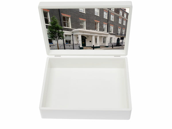 Queen's College  Senior School Memory Wood Box - A4 Box  - Personalised