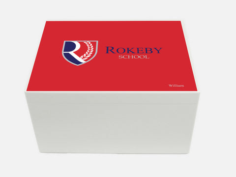 Rokeby School Memory Wood Box - A4 Chest - Personalised
