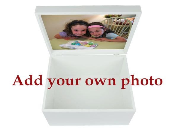 Extra Large Memory Box A4 Size White Wooden Chest  | Personalise with Name 335 x 260 x 180 mm