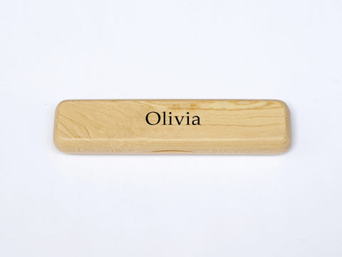 Luxury Personalised Maple Pen Case with your Name
