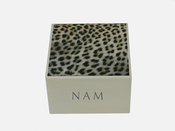 Leopard Spots  - Square wood box