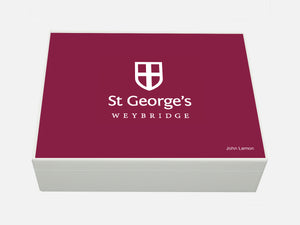 St Georges College School Memory Wood Box - A4 box - Personalised