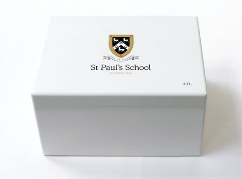 St Paul's School Memory Wood Box - A4 Chest - White - Personalised