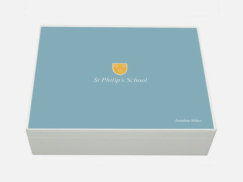 St Philips School Memory Wood Box - A4 box - Personalised