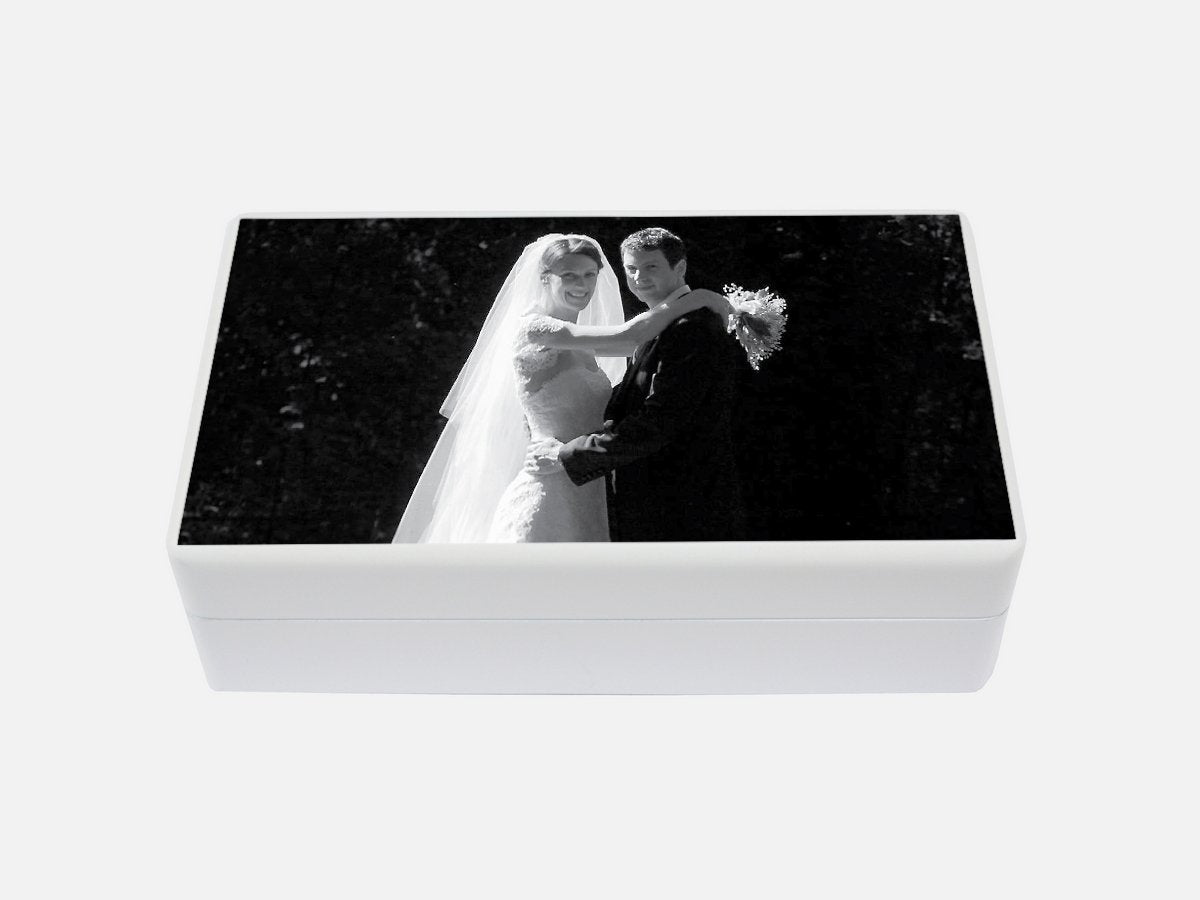 Create a Wedding Memory Box | Photo Box | White Jewellery box