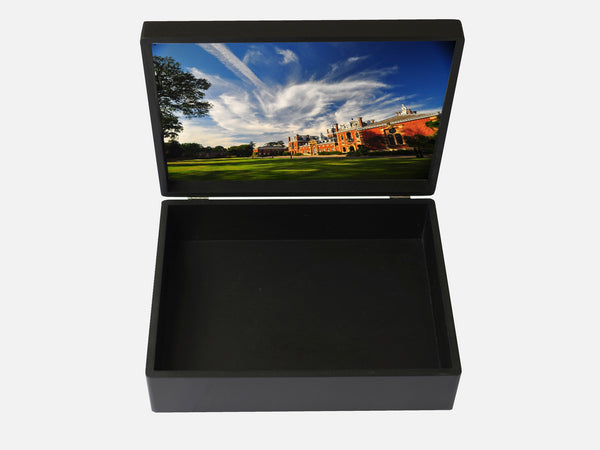 Wellington College School Memory Wood Box - A4 Box - Black - Personalised