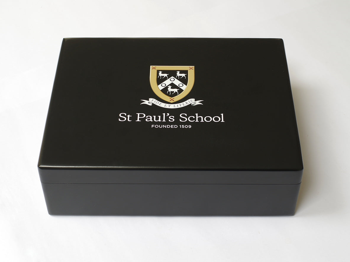 Luxury Black A4 Document Wood Box