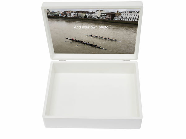 Sherborne Girls School Memory Wood Box - A4 Chest - White - Personalised