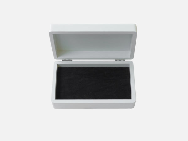jewellery box white with velvet insert for baby gift