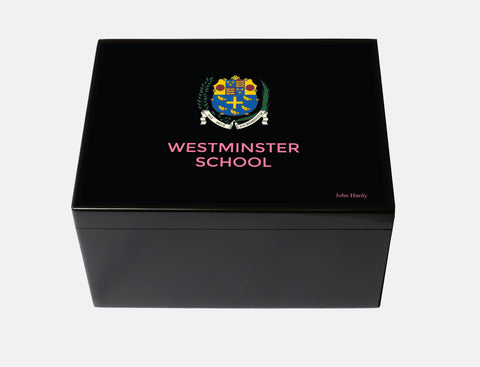 Westminster School Memory Wood Box - A4 Chest - Black  - Personalised