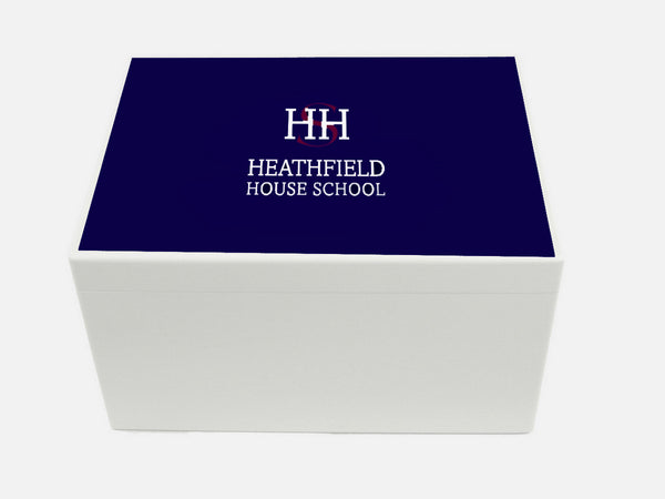 Heathfield House School Memory Wood Box - A4 Chest - Personalised