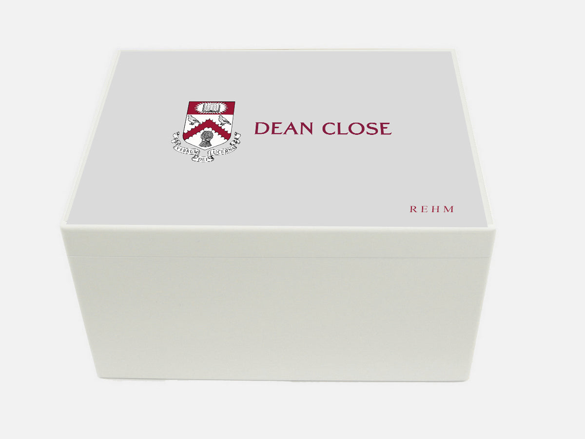 Dean Close School Memory Wood Box - A4 Chest - Personalised