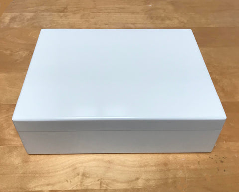 Luxury White Wooden Large Gift Box 335 x 260 x 100 mm Fits A4-sized papers