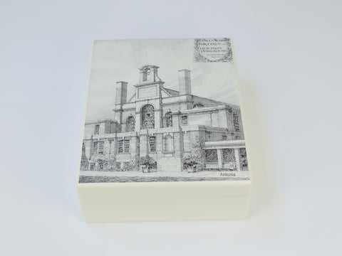 St Paul's Girls' School Memory Wood Box - A4  - Architectural Drawings  - Personalised