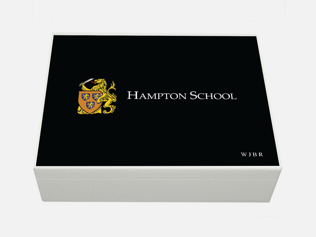 Hampton School Memory Wood Box - A4 box -Personalise with a name 335 x 260 x 100 mm